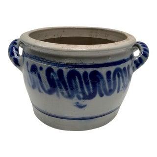 Vintage German Blue Salt Glazed Crock For Sale