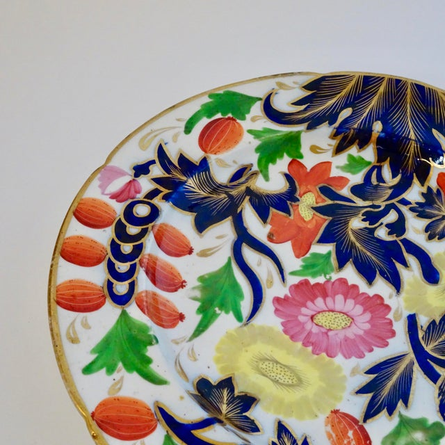 19th Century Porcelain Plate With Decorative Floral Design For Sale In Nashville - Image 6 of 10