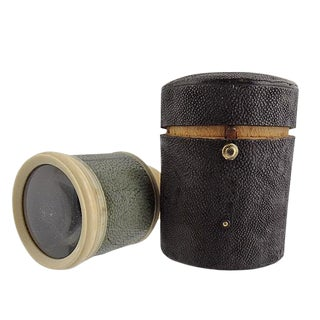 Late 19th Century Vintage English Shagreen Monocular For Sale