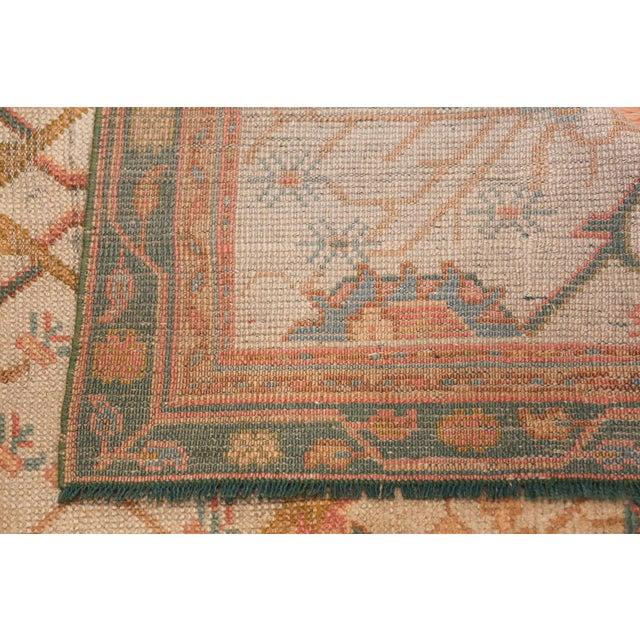 Antique Decorative Turkish Oushak Rug - 3′7″ × 6′7″ For Sale - Image 10 of 11