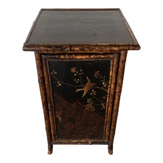 Antique English Bamboo Cabinet For Sale