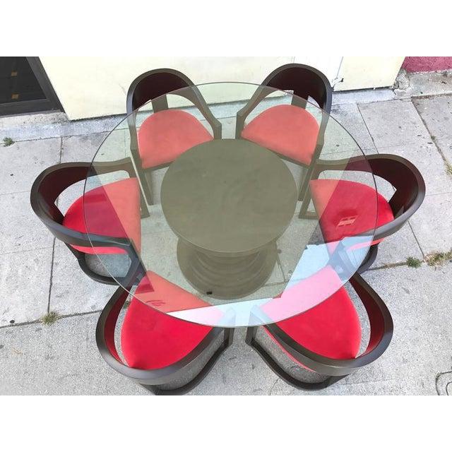 Karl Springer Style Dining Set - Image 4 of 7