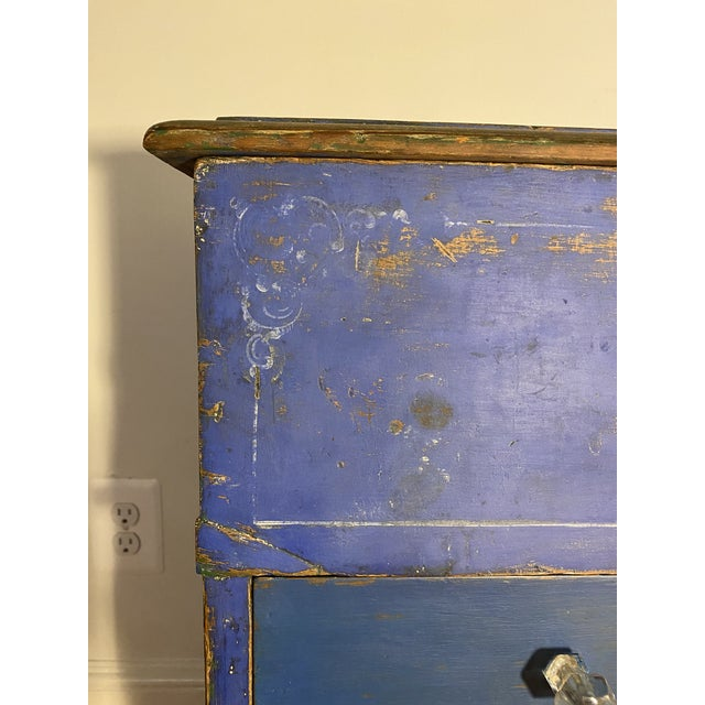Mid 19th Century Antique Swedish Commode or Chest With Original Paint For Sale - Image 5 of 13