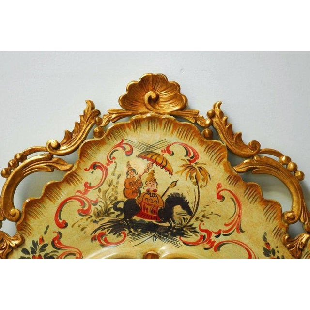 Rococo Venetian Chinoiserie Gilt and Lacquered Mirror For Sale - Image 3 of 10