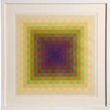 Image of Hugo Demarco, Framed Optical Silkscreen For Sale