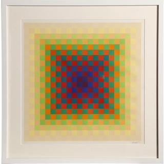 Hugo Demarco, Framed Optical Silkscreen For Sale
