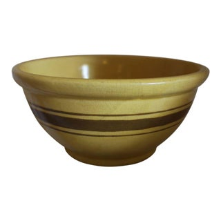 Brown Banded Mixing Bowl From the Andy Warhol Collection For Sale