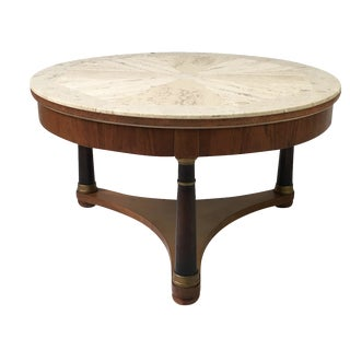 Hollywood Regency Marble Top Coffee Table For Sale