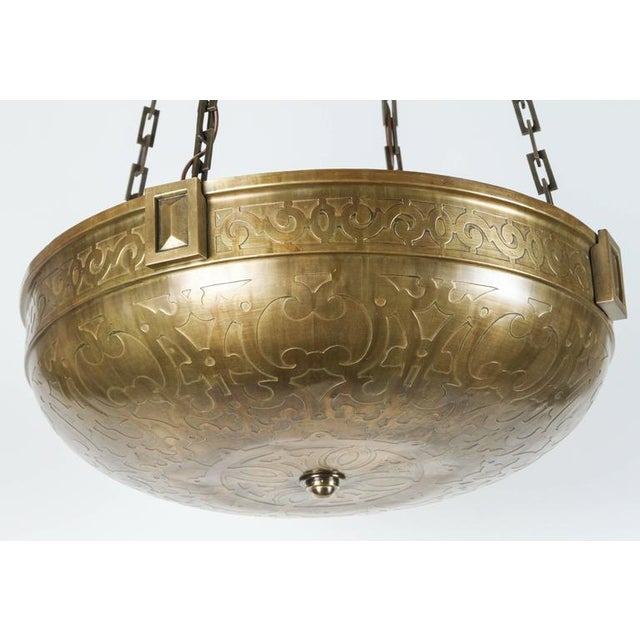 Moorish Style Acid Etched Bowl Fixture - Image 2 of 6