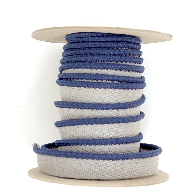"""Navy Blue Braided 1/8"""" Indoor/Outdoor Cord with Flange For Sale - Image 8 of 8"""
