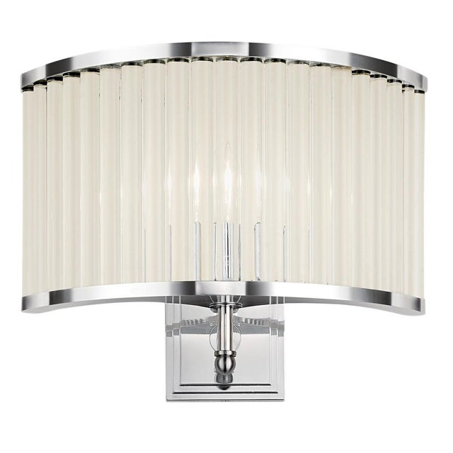 Polished Chrome Curved Wall Light For Sale - Image 4 of 4