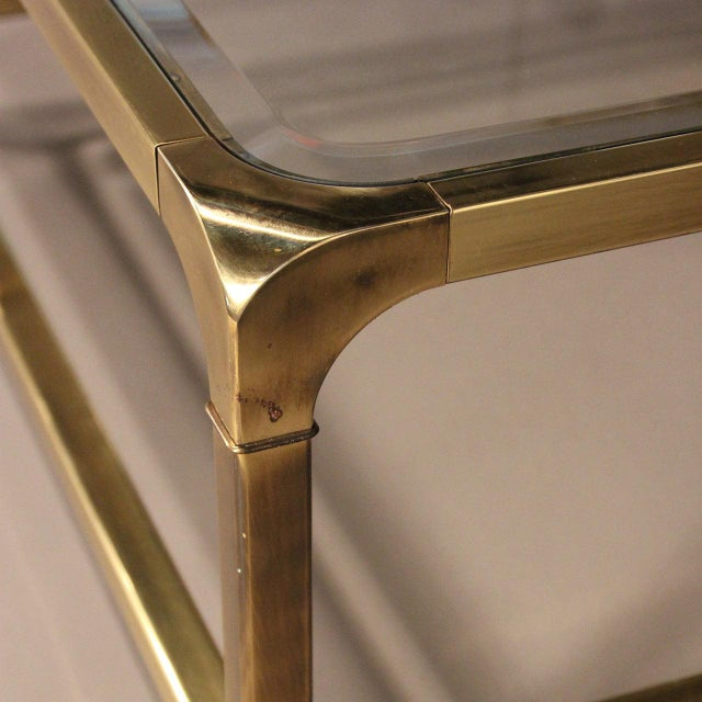 Mastercraft Brass and Glass Coffee Table - Image 9 of 10