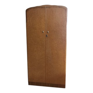 Mid-Century Modern Birdseye Maple Armoire For Sale