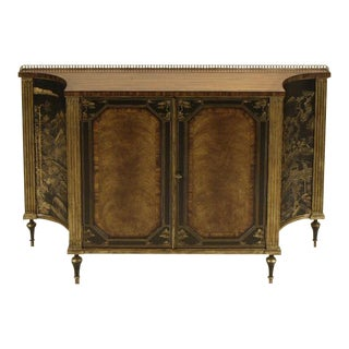 Maitland Smith Rosewood Chinoiserie Credenza For Sale