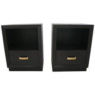 Ebonized Mahogany Nightstands by John Stuart - a Pair For Sale