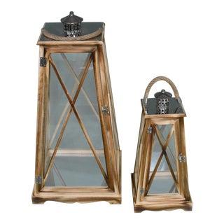 Cubic Lantern - a Pair For Sale