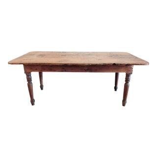 Antique Farmhouse Harvest Table For Sale