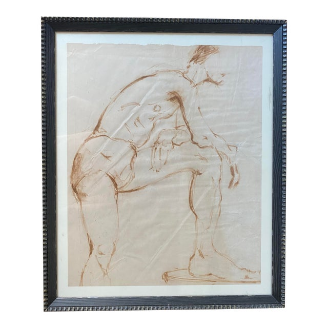 Nude Male Painting Attributed to Helen Beling For Sale