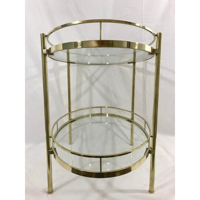 Mid-Century Modern Solid Brass MCM Side Table For Sale - Image 3 of 7