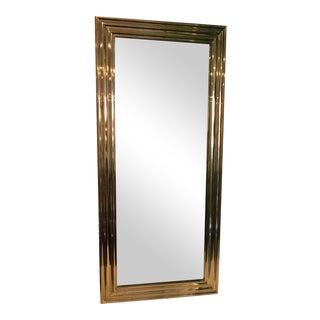 Art Deco Brass Wall Mirror