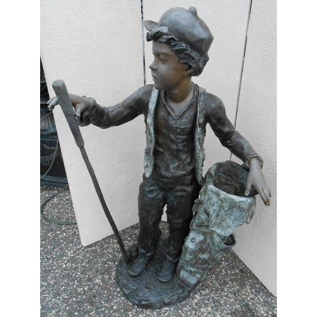 Renaissance Sculptural Bronze Caddy Statue For Sale - Image 3 of 5