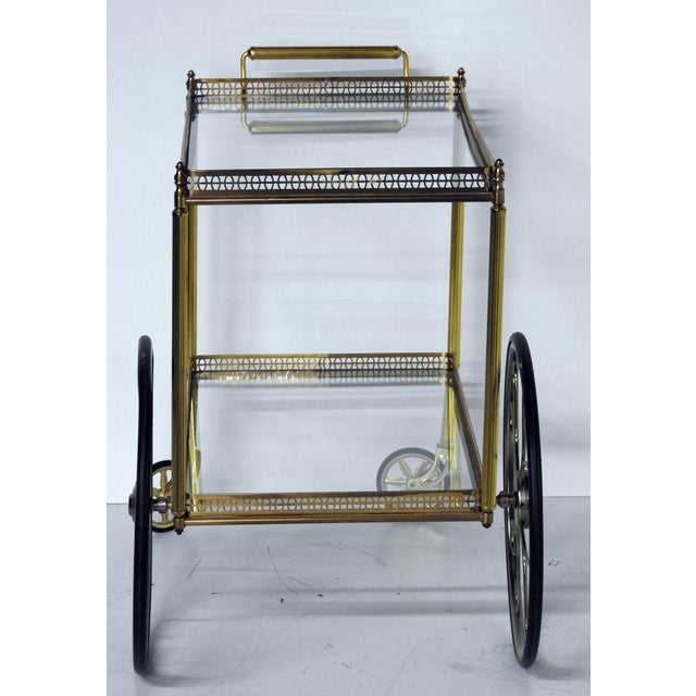 French Modern Rolling Bar Cart - Image 5 of 9