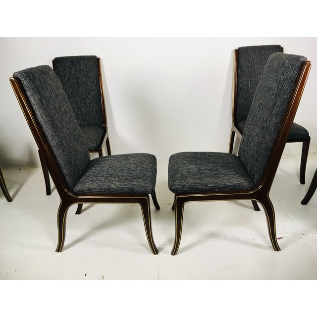 1970s Vintage Baker Furniture Company Dining Room Chairs- Set of 6 For Sale In Philadelphia - Image 6 of 13