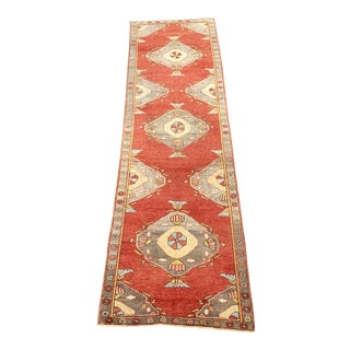 1950s Vintage Oushak Runner Rug - 2′10″ × 11′6″ For Sale