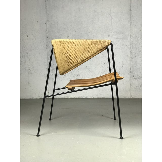 1950s Exceptional 1950's Mid Century Modern Lounge Chair by Arthur Umanoff for Shaver Howard & Raymor For Sale - Image 5 of 13