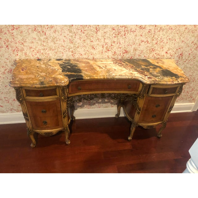 Antique Marble Top Vanity For Sale - Image 4 of 12