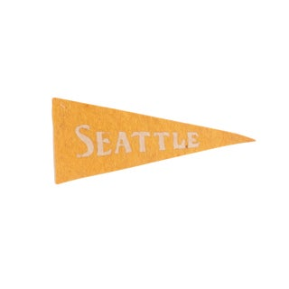 Antique Seattle Felt Flag Pennant For Sale