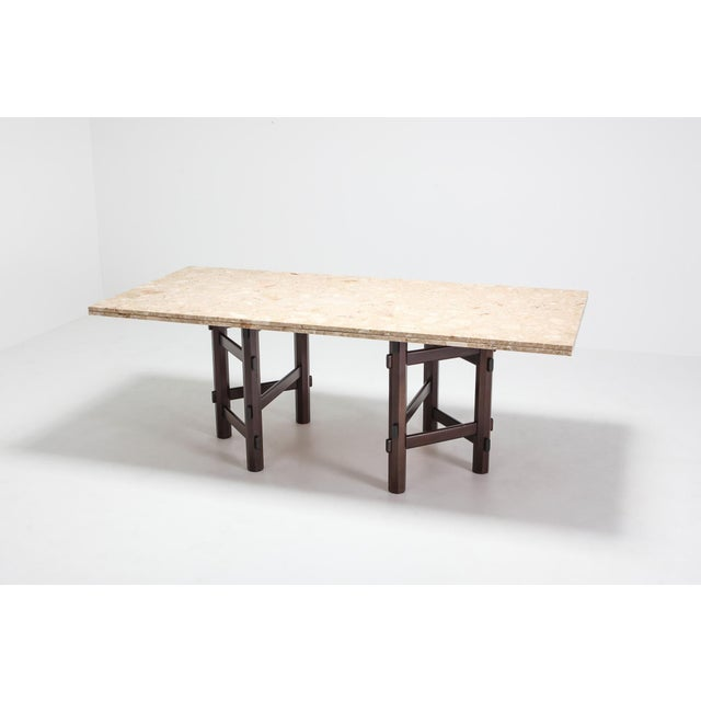Modern Terazzo Marble Dining Table by Jan Vlug For Sale - Image 4 of 9