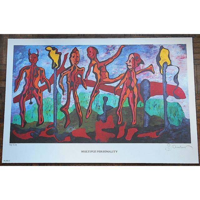 This elephant folio size limited edition lithograph was created by listed American artist, George Andreas (Greece, USA...