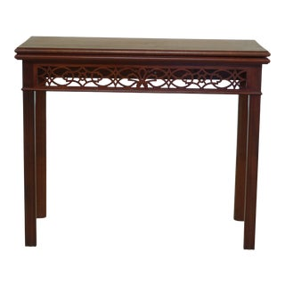 Chippendale Solid Mahogany Games Table ~ Possibly Bartley For Sale