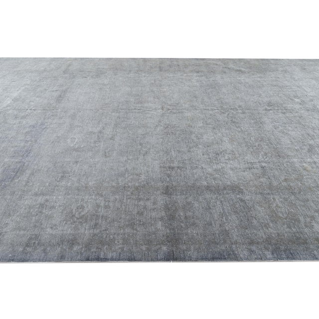 Gray 21st Century Modern Overdyed Rug For Sale - Image 8 of 13