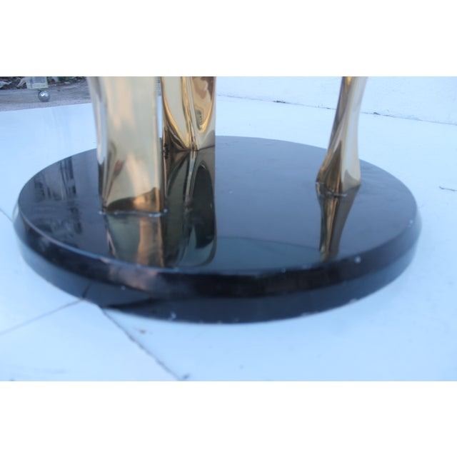 Lacquer & Brass Palm Leaf Coffee Table For Sale In Miami - Image 6 of 10