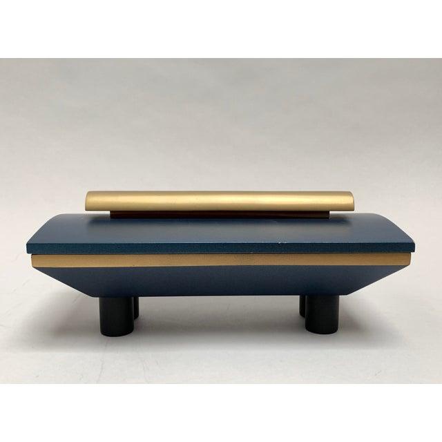 Vintage Postmodern Memphis Style Artisan Wood Lidded Box For Sale - Image 13 of 13