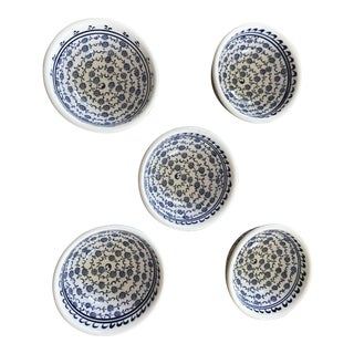 Turkish Handmade Ceramic Bowls - Set of 5 For Sale
