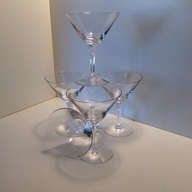 Transparent Set of 5 Cocktail or Champagne Glasses by Fostoria For Sale - Image 8 of 13