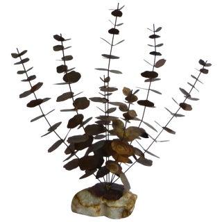 Bijan Mid-Century Metal Flower Sculpture
