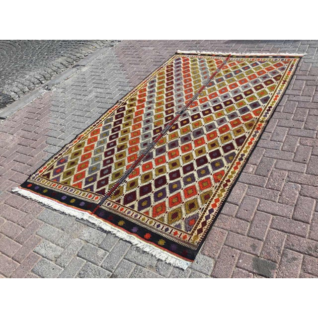 "Turkish Kilim Rug - 5'4"" X 9'1"" - Image 2 of 11"
