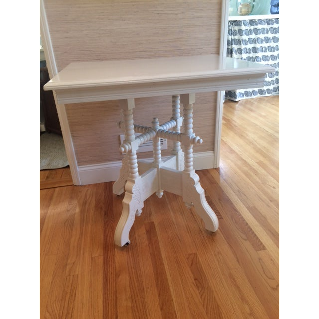 Victorian White Side Table - Image 2 of 9