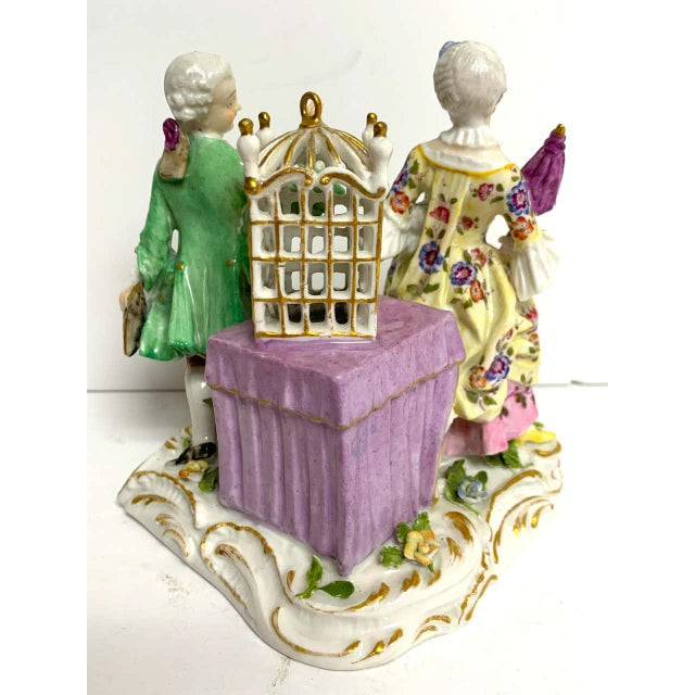 Yellow 19th Century Meissen Birdcage Grouping For Sale - Image 8 of 12