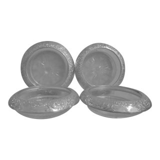 Sterling Silver Coasters - Set of 4 For Sale