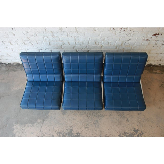 1970s Vintage Chromcraft Milo Baughman Style Three-Seat Sofa For Sale In South Bend - Image 6 of 11