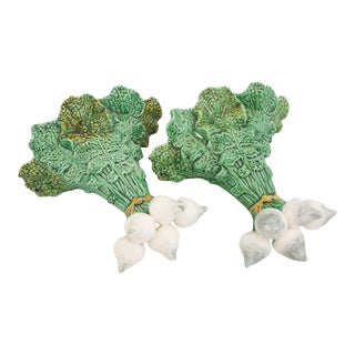 Majolica Pottery Wall Pockets - a Pair For Sale