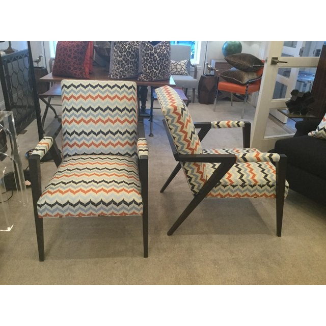 Textile Kravet Mid-Century Modern Tempest Chairs - a Pair For Sale - Image 7 of 8