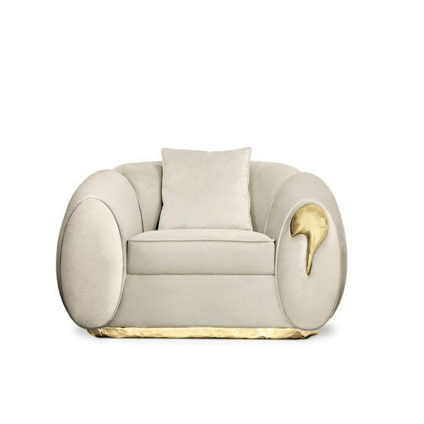 Not Yet Made - Made To Order Soleil Armchair From Covet Paris For Sale - Image 5 of 5