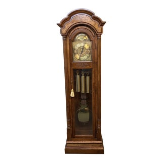 Late 20th Century Seth Thomas Grandfather Clock For Sale