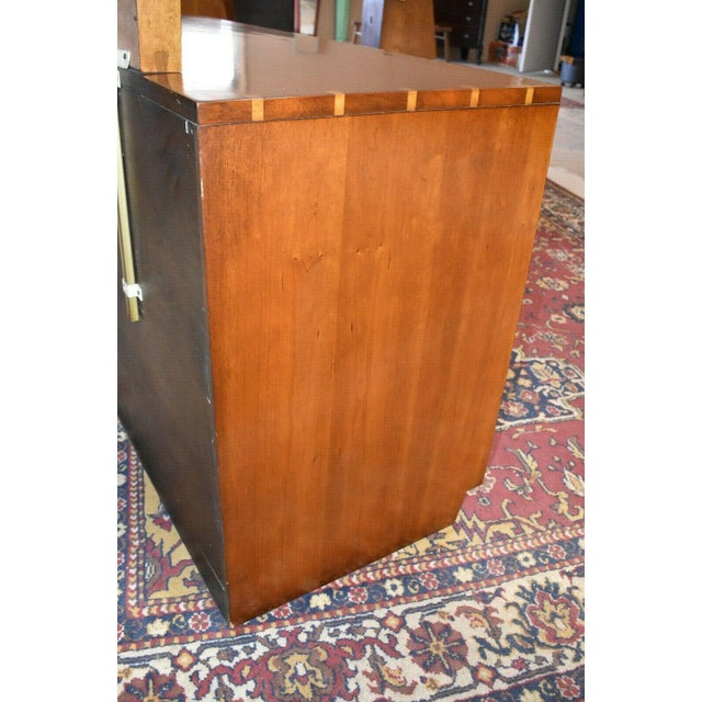 Wood 1952 Heritage Henredon Mid Century Cherry Dresser and Mirror For Sale - Image 7 of 11